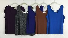 Chico's Size 3 Lot Of 5 Summer Tops Cami Tanks Stretch