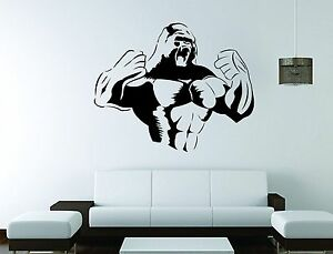 Image is loading King-Kong-Wall-Mural-Vinyl-Decal-Sticker-Decor- & King Kong Wall Mural Vinyl Decal Sticker Decor Gorilla Monkey Movie ...