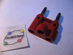 Qty-1-Dual-Banana-Plug-Pomona-MDP-Red-Plastic-Used