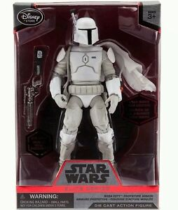 "DISNEY STAR WARS ELITE 7"" BOBA FETT w/ CAPE WHITE PROTOTYPE DIE CAST FIGURE NIB"