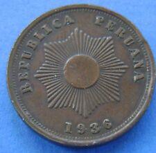1936 Peru - Peru 2 Centavos Dos Centavos 1936 c - KM# 212.1