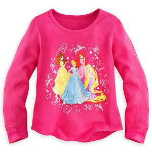 Disney Store Belle Shirt Long Sleeve 5//6,9//10 Girls NEW