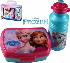 DISNEY FROZEN KIDS SANDWICH LUNCH BOX & SPORTS WATER DRINKS BOTTLE SCHOOL PICNIC