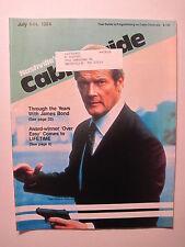 Nashville Cable Guide July 1984. James Bond 007! Elton John on Cinemax!
