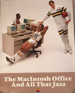 VERY-RARE-Original-Vintage-Macintosh-Office-and-All-That-Jazz-Poster-Rolled
