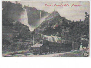 CARTOLINA TERNI - CASCATA DELLE MARMORE VIAGGIATA 1901