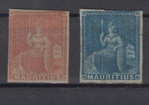 AQ5464-BRITISH-MAURITIUS-SCOTT-7-8-UNISSUED-MINT-NO-GUM