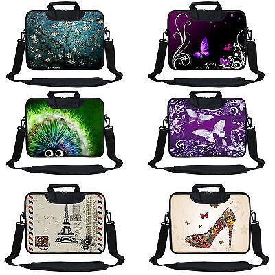 "15/"" Laptop Computer Sleeve Bag with 2 Top Pockets /& Shoulder Strap Handle 2721"