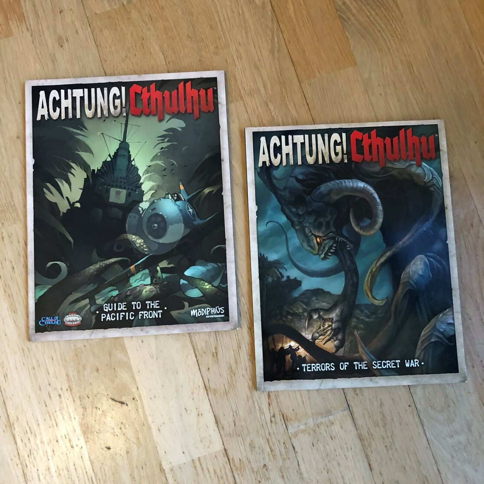 Modiphius TERRORS OF THE SECRET WAR +PACIFIC GUIDE Achtung Cthulhu FREE SHIPPING