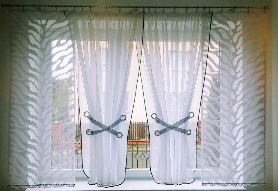 Belle Fini Rideau Neuf HG-Amelia 2 rideau de voile qualité jacquard meilleure qualité voile 22b8f4