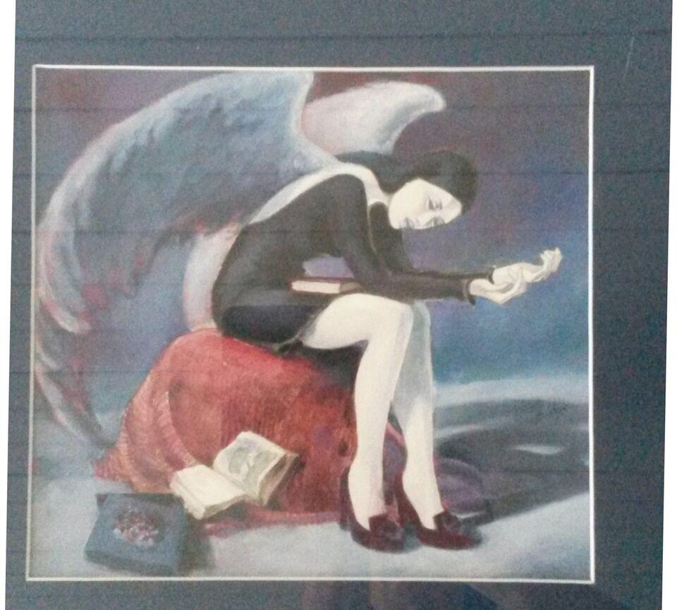Akvarel, Gabrielle Cippato, motiv: Portrætter/Figurer
