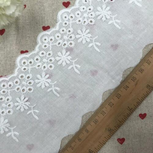 5 Yards Soft cotton embroidery Flower Lace Trim Sewing clothing Accessories