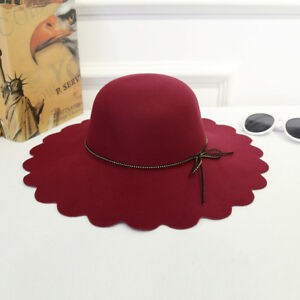 67f2385fb27 Image is loading Women-Elegant-Retro-Ladies-Floral-Fedora-Ruffled-Sweet-