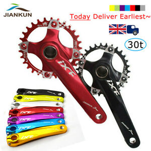 UK 7Colors Chainset Pedal BCD104mm Aluminium MTB Bike 170mm Crank  Arm set