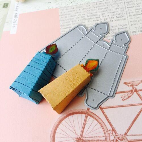 Stirbt Cut Kerze Box Metall Stanzformen Schablonen für DIY Scrapbooking