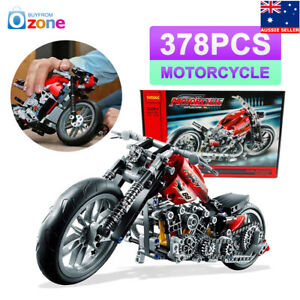 378Pcs-Harley-Technic-Motorcycle-Exploiture-Model-Building-Bricks-Block-Toy-Gift