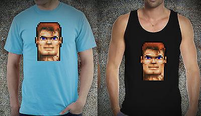 """Wolfenstein 3D tshirt William """"B.J."""" Blazkowicz Retro Style cotton Tee Shirt"""
