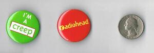 RADIOHEAD-Pablo-Honey-LP-Album-PROMO-I-039-m-A-Creep-2-PIN-SET-Button-Badge