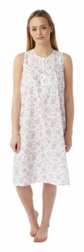 Ladies Sleeveless Cotton//Poly Floral Nightdress By Marlon 10-30 Style Mn16