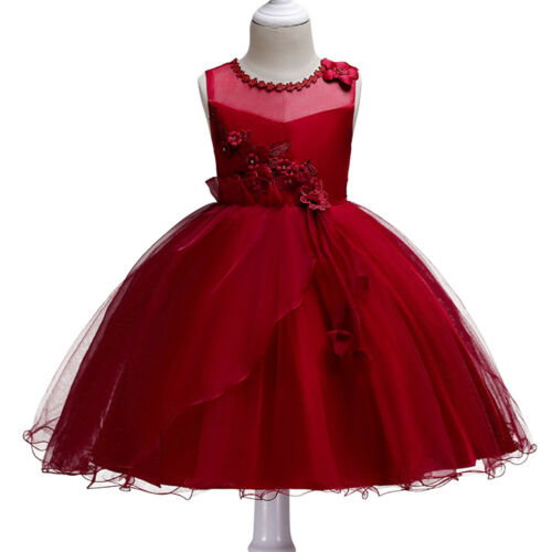 Little Big Girl Fleur Court Tutu Robe de Mariage Princesse Anniversaire Pageant Parti