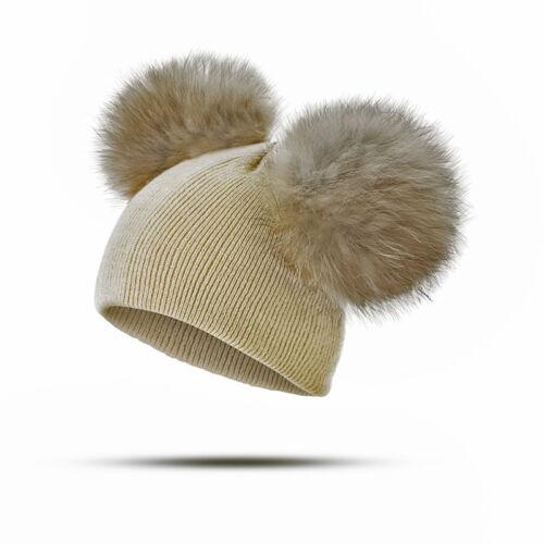 Warm Winter Baby Beanie Toddler Girls Boys Hat Knit Infant Crochet Ski Ball Cap