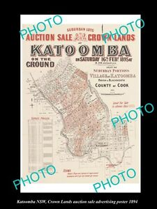 OLD-LARGE-HISTORIC-PHOTO-OF-KATOOMBA-NSW-CROWN-LAND-AUCTION-SALE-POSTER-1894