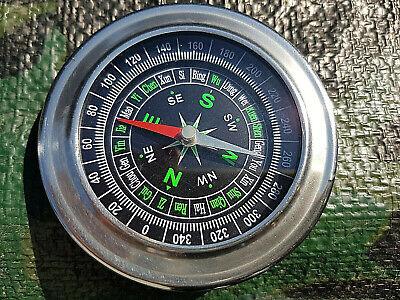 Grosser Schiffskompass Kompass Orientierungshilfe BW US Outdoor verchromt