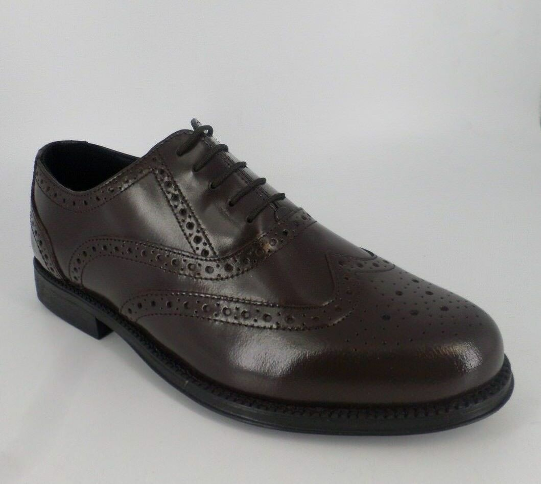 Clifford James  Brown Men's Leather Brogues Shoes Brown  Size NH08 11 5c1c1e
