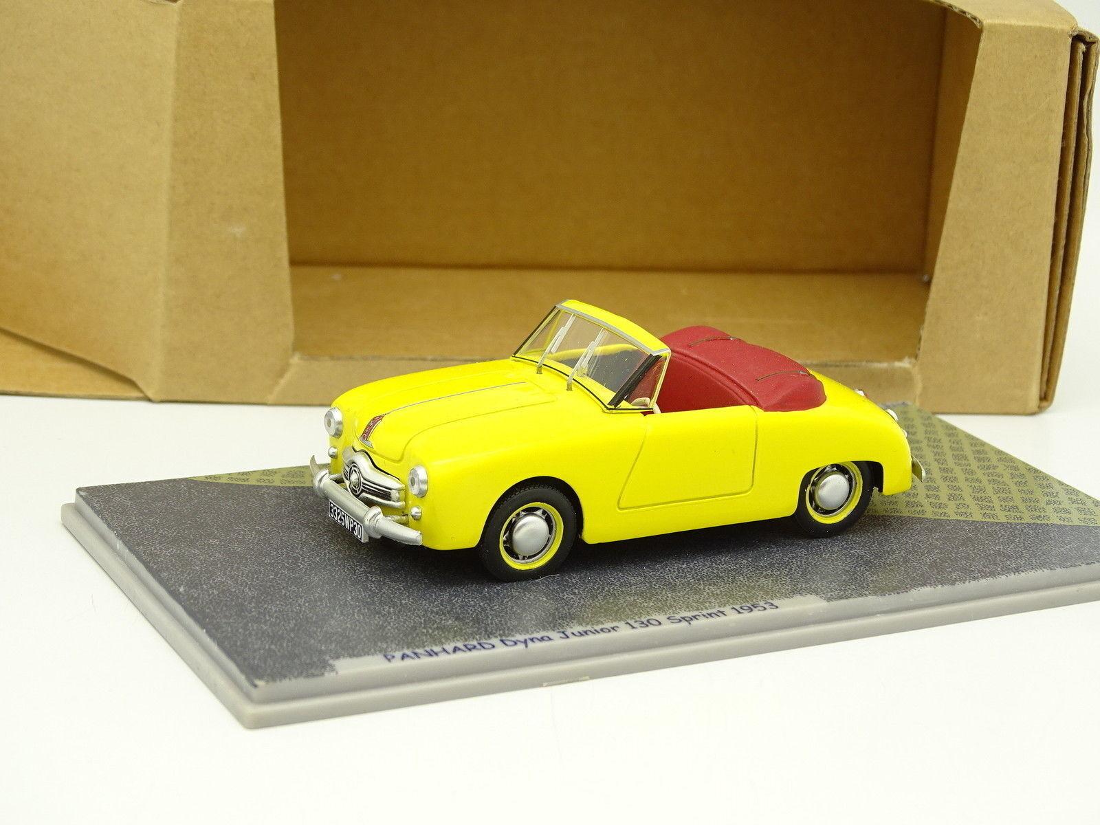 Bizarre Résine 1/43 - Panhard Dyna Junior 130 Sprint 1953 Jaune | économie