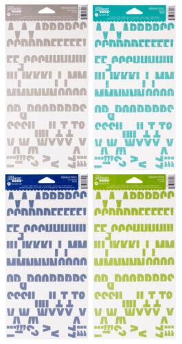 Jillibean Soup Alphabeans Cardstock Alphabet Stickers 4 Colours Available