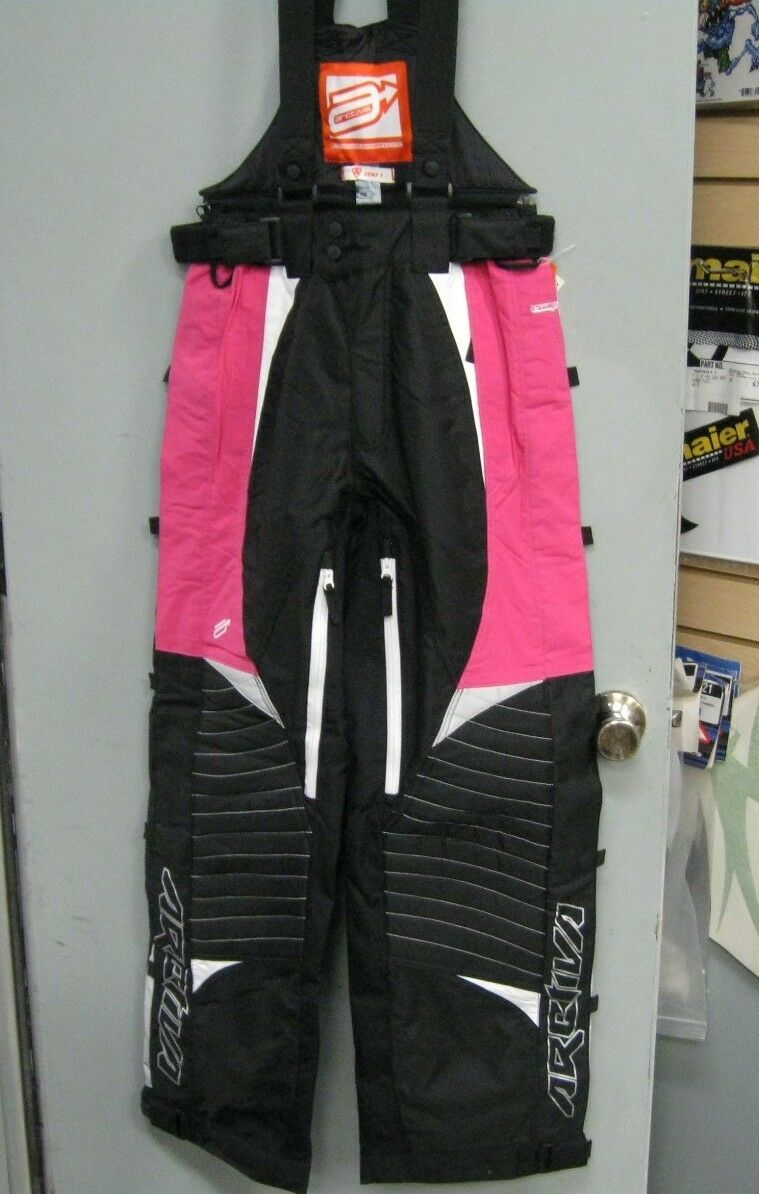 Arctiva Womens Snowmobile Pants Pink Comp 7 Womens Small Snow Bib