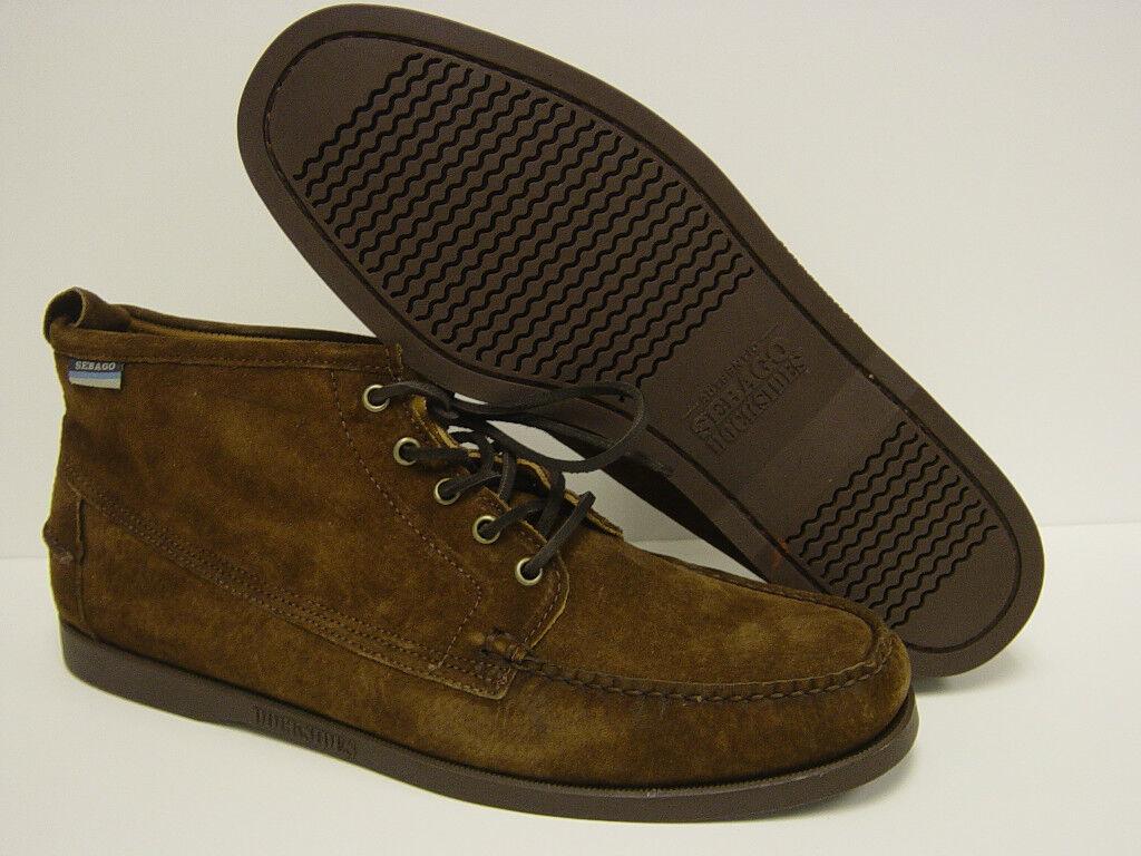 NEW Mens Sz 13 SEBAGO Beacon B72561 DOCKSIDES Dark marrón Suede botas zapatos