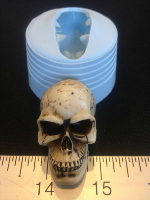 SKULL SILICONE MOLD #455 CANDLE, GUMMY CANDY, KIDS CRAFT, FAVORS, HALLOWEEN