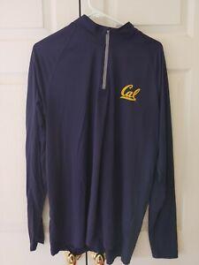 Men Under Armour Navy Cal Golden Bears Loose Heatgear 1/4 Zip Pullover Size XL