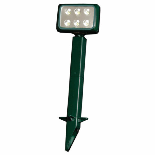 Lot of 6 Pieces Lumateq LED Landscape High Impact Light 6//1W LEDs–GREEN 120V
