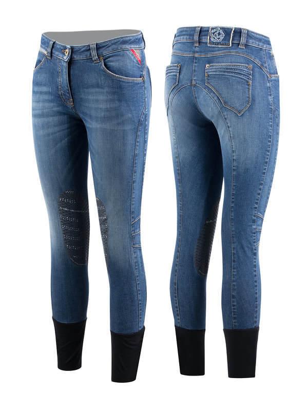 Animo Damen Reithose Jeansreithose Modell schwarz Swarovski-Elemente Neuheit