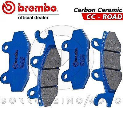 4 Pastiglie Freno Anteriori Brembo Blu Carbon Ceramic Yamaha Yxr 450 Rhino 2010