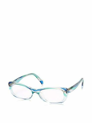 Emilio Pucci Designer Reading Glasses EP2687-455-51 Sky Blue Crystal Stripe 51mm