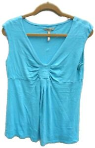 Old-Navy-Maternity-Solid-Blue-Short-Sleeve-Knit-Top-Size-Large-Regular