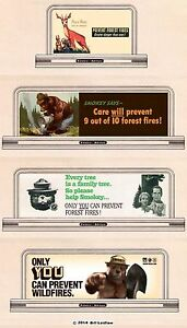 4-billboard-roadside-signs-90-N-or-Z-scale-Smokey-Bear-034-Only-You-034-and-Disney