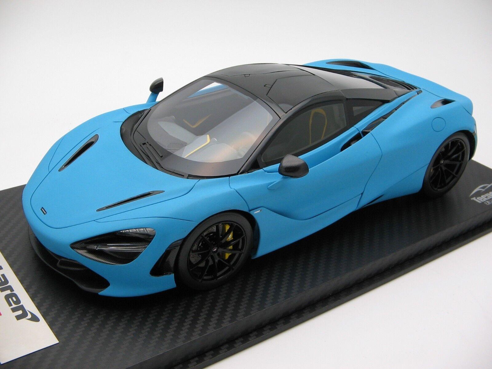 1/18 scale Tecnomodel McLaren 720S Baby blu Matt effect 2017 T18-EX06C