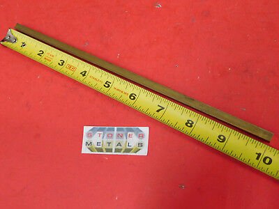 """1//2/"""" x 1//2/"""" C360 BRASS SQUARE BAR 6/"""" long Solid .50/"""" Flat Mill Stock H02"""