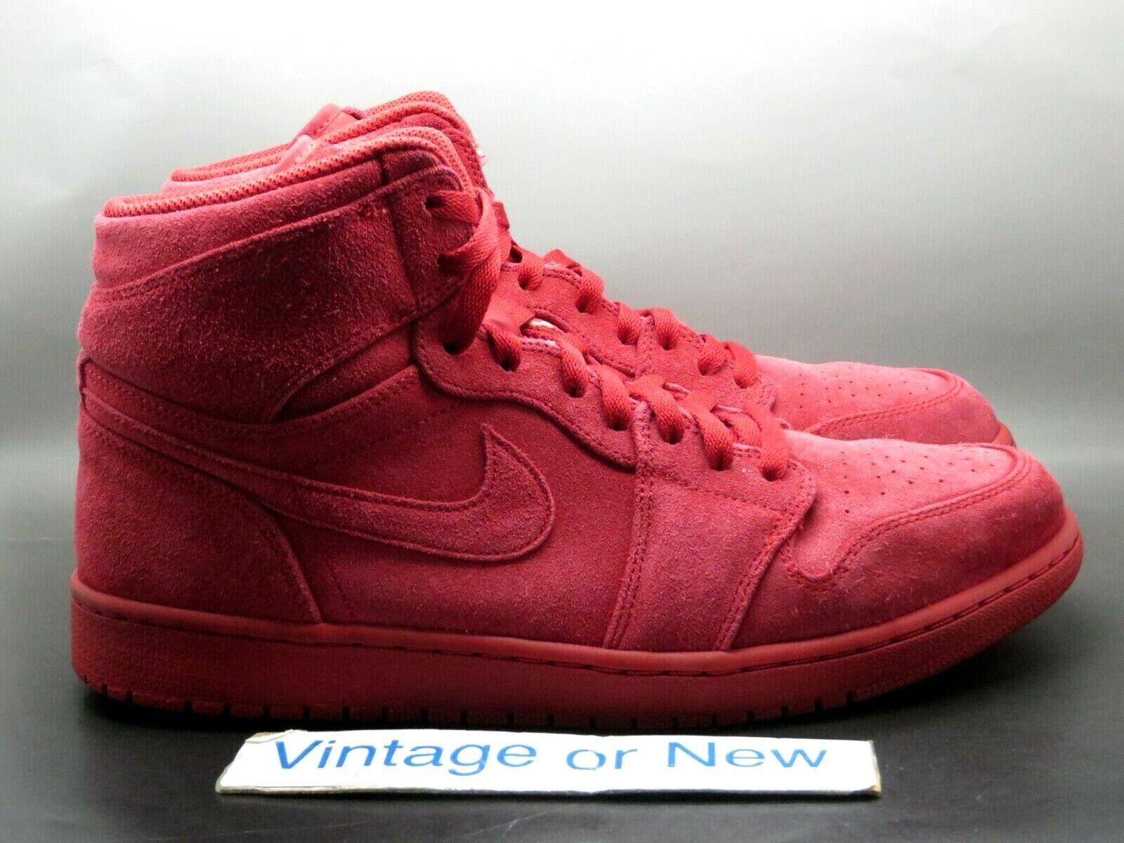 Air Jordan I 1 Retro High 2017 Gym Red Suede 332550-603 sz 12
