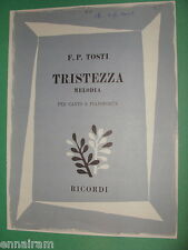 Francesco Paolo Tosti 1978 Tristezza Melodia  Italian Riccardo Mazzola