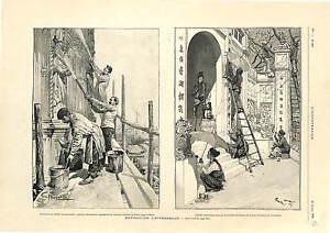 Exposition-Universelle-Pavillon-Italy-Tonkin-Annam-Coloa-ANTIQUE-PRINT-1900