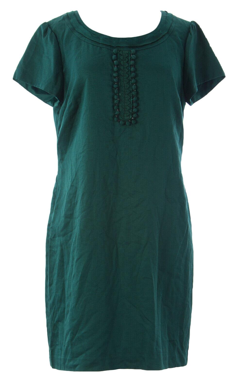 Femme BODEN Castleton vert Ava Shift Robe WH409 SZ 10R  189 neuf sans Original balises