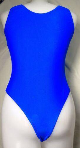 L or XL NEW Tank Thong Lycra Leotard Bodysuit White Purple or Blue  Adult M
