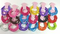 72 pcs Hair Ties Pony Tail Holders Mixed Colors .
