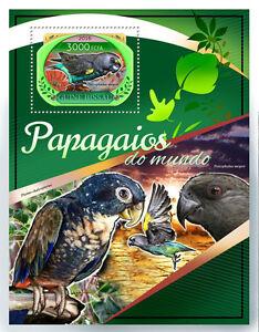 Guinea-Bissau 2016 MNH Parrots 1v S/S Meyer's Parrot Birds Stamps
