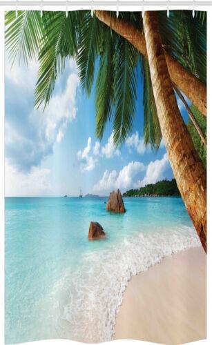 Exotische Palme Ozean Strand Schmaler Duschvorhang